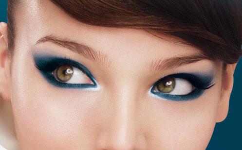 Maquillage yeux marrons bleu marine - Maquillage bleu yeux marrons ...