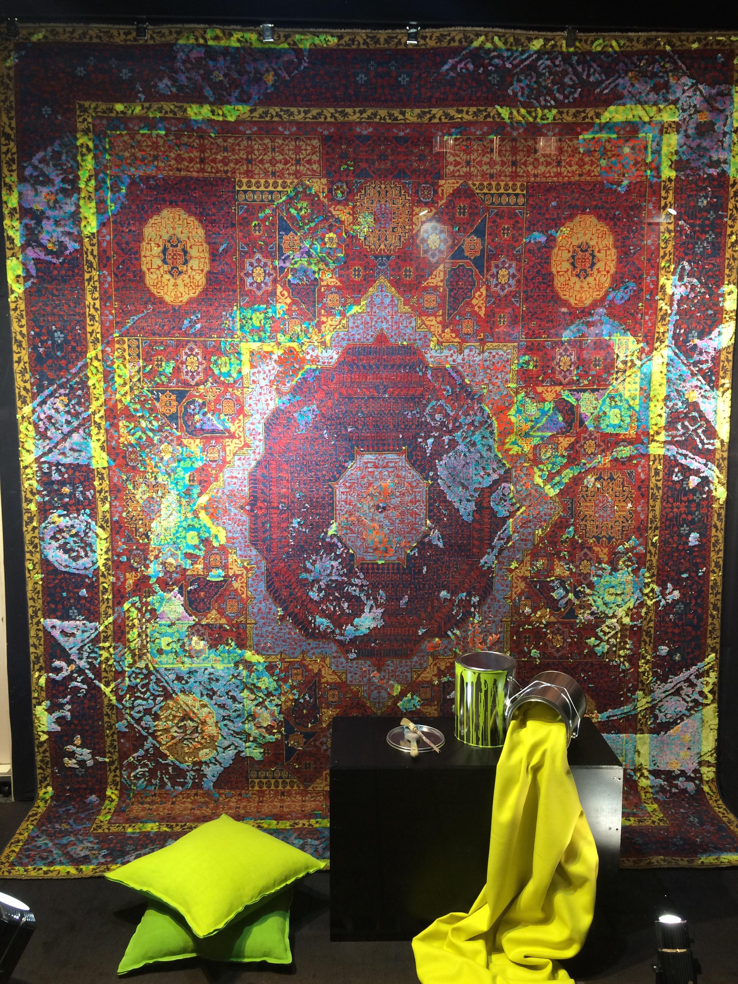 jan kath s 39 expose chez tapis hertz femmes magazine. Black Bedroom Furniture Sets. Home Design Ideas
