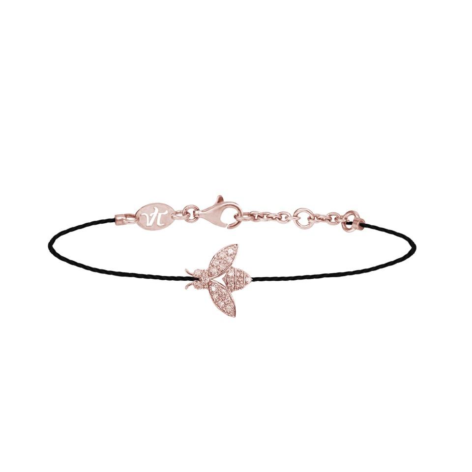 35260e9ab66b A l approche des fêtes, coup de cœur pour le bracelet Save my Bee, créés  par la joaillère Vanessa Tugendhaft  une petite abeille diamantée – en  argent ...