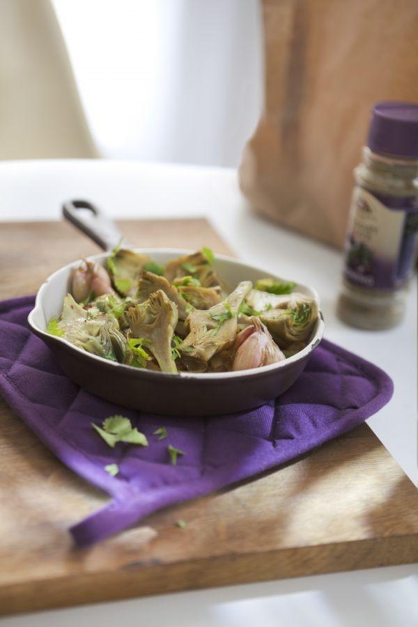 food-recette-minceur-artichauts-violets-coriandre