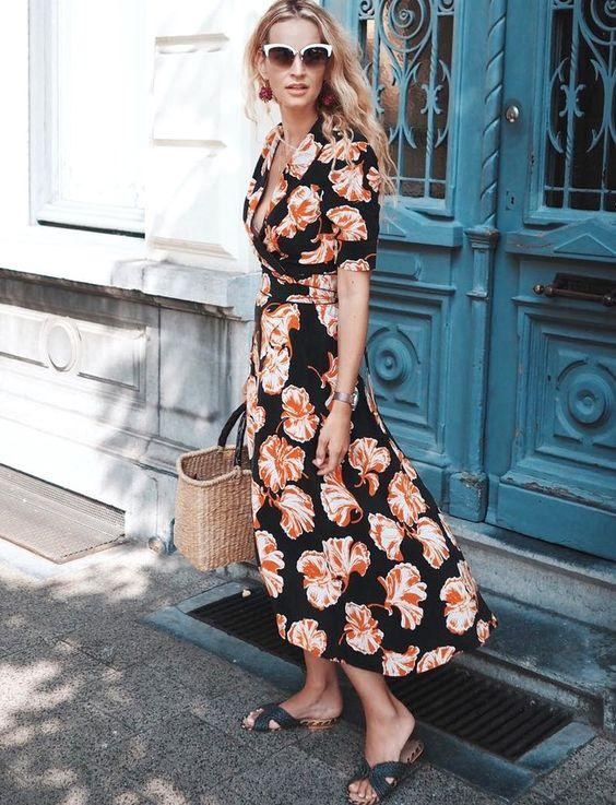 Que porter avec une robe portefeuille