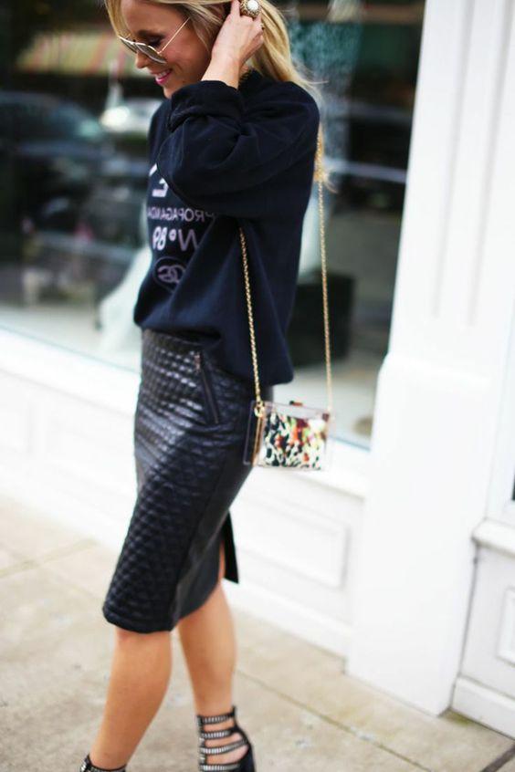 Comment porter la jupe crayon femmes magazine - Que porter avec une jupe crayon ...