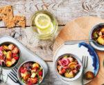 femmesmagazine-Salade de pommes de terre au saumon et concombre marinés